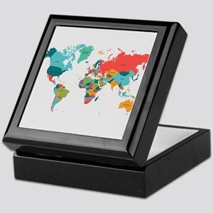 World Map With the Name of The Countries Keepsake